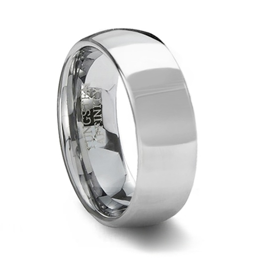 Tungsten Carbide Polished Wedding Ring